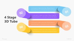 4 Stage 3D Tube Infographic Template