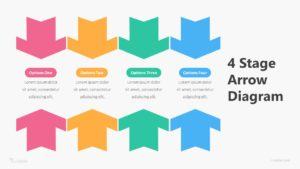 4 Stage Arrow Diagram Infographic Template