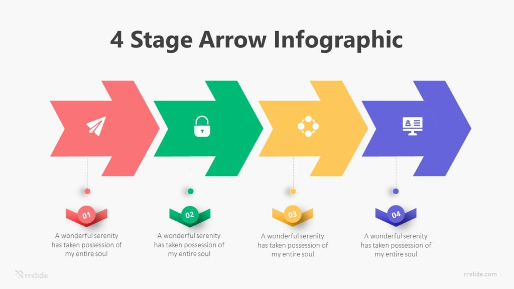 4 Stage Arrow Infographic Template