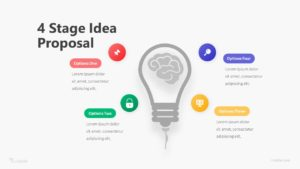 4 Stage Idea Proposal Infographic Template