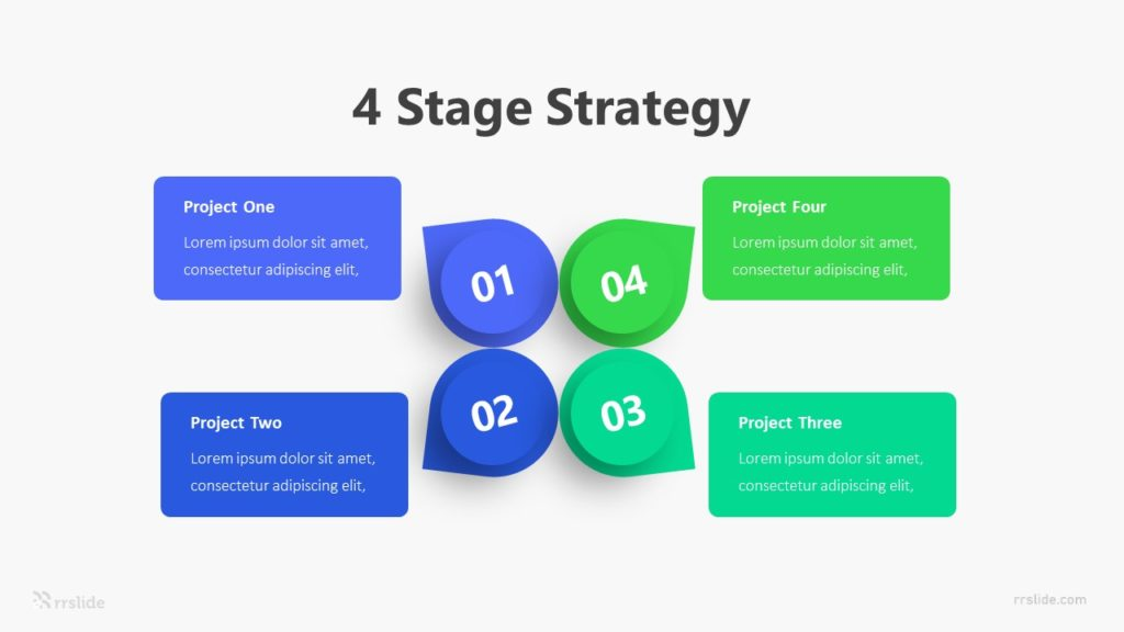 4 Stage Strategy Infographic Template