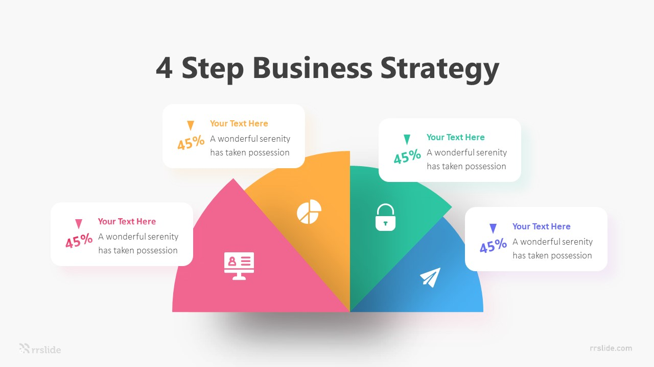 4 Step Business Strategy Infographic Template