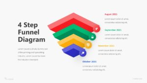 4 Step Funnel Diagram Infographic Template