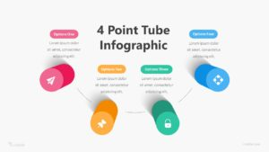 4 Step Point Tube Infographic Template