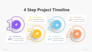 4 Step Project Timeline Infographic Template