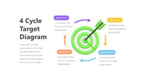 4 Step Target Process Slide Diagram Infographic Template