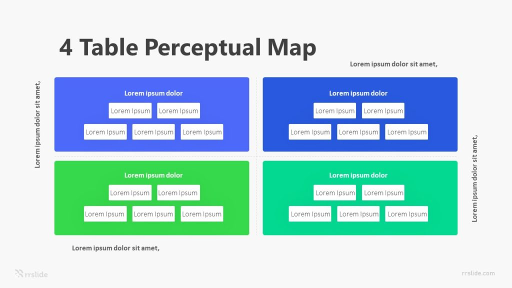 4 Table Perceptual Map Infographic Template