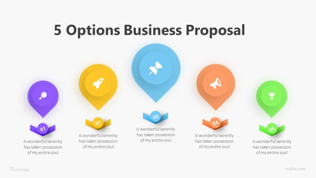 5 Options Business Proposal Infographic Template