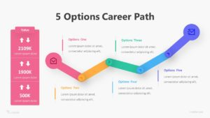 5 Options Career Path Infographic Template