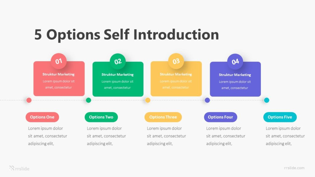 5 Options Self Introduction Infographic Template