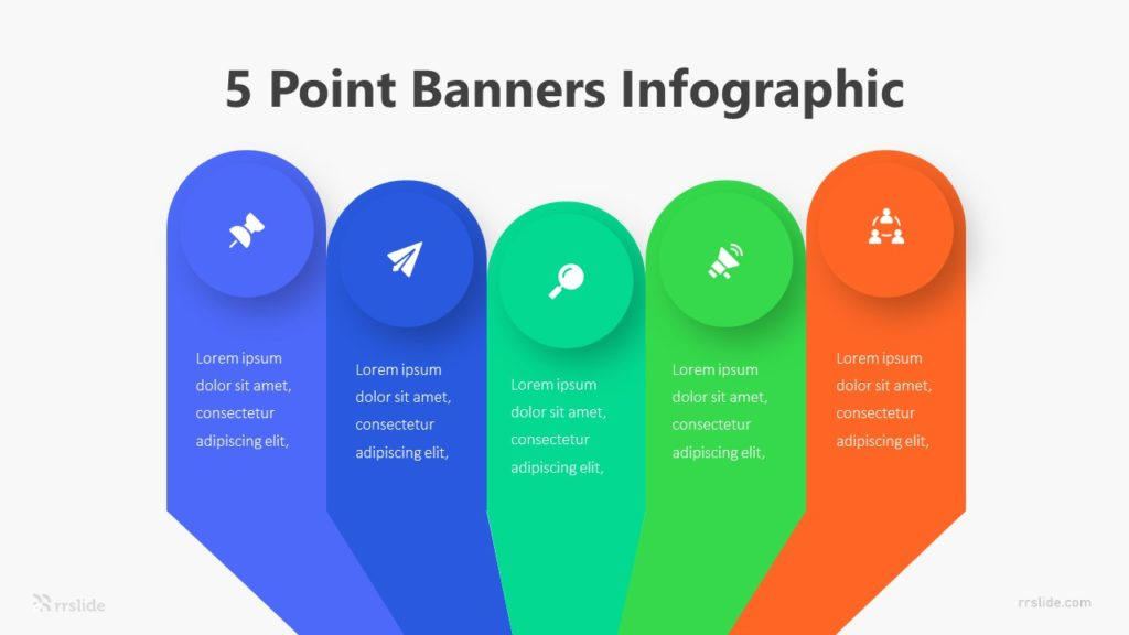 5 Point Banners Infographic Template