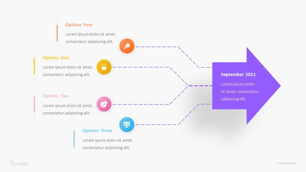 5 Point Network Diagram Infograpic Template