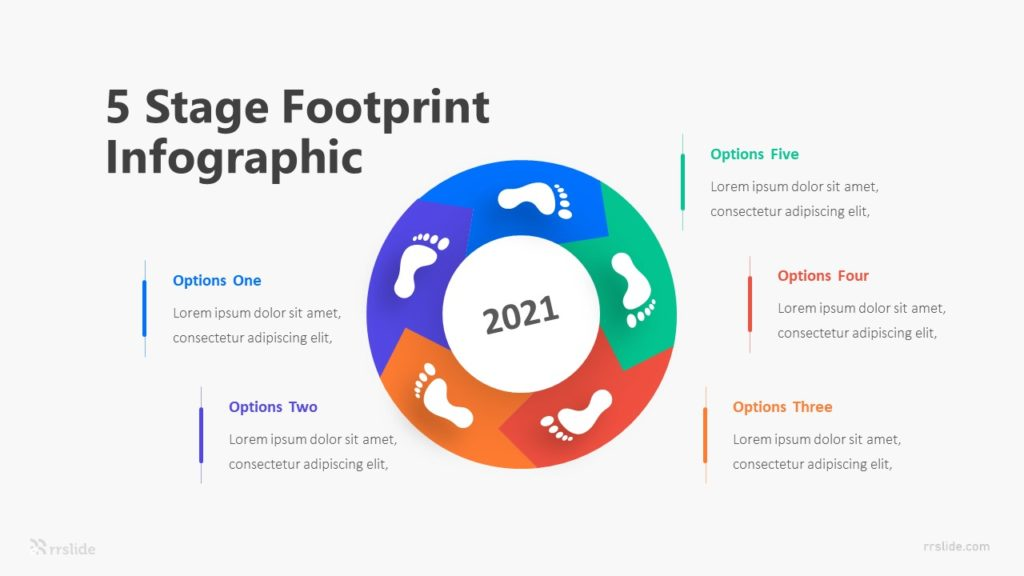 5 Stage Footprint Infographic Template