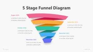 5 Stage Funnel Diagram Infographic Template