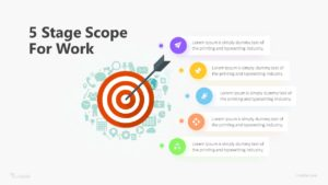 5 Stage Scope For Work Infographic Template