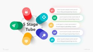 5 Stage Tube Infographic Template