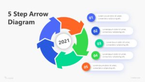 5 Step Arrow Diagram Infographic Template