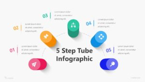5 Step Tube Infographic Template