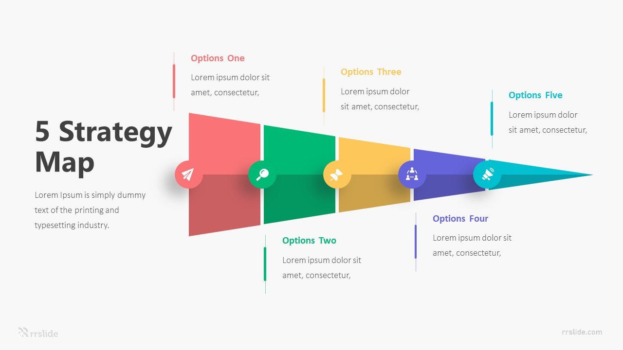 5 Strategy Map Infographic Template