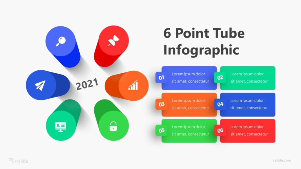 6 Point Tube Infographic Template
