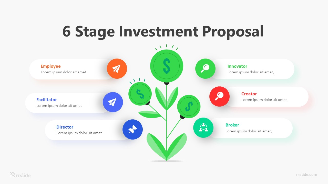 6 Stage Investment Proposal Infographic Template