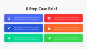 6 Step Case Brief Infographic Template