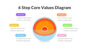 6 Step Core Values Diagram Infographic Template