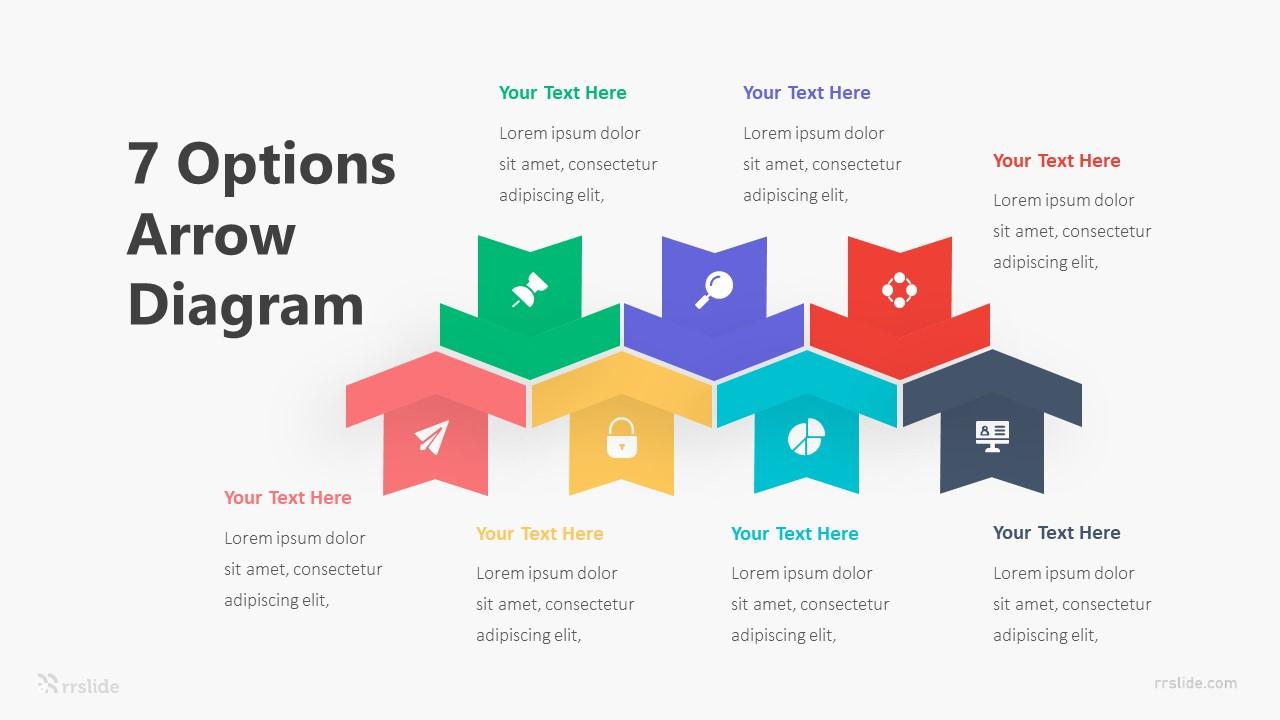 7 Options Arrow Diagram Infographic Template