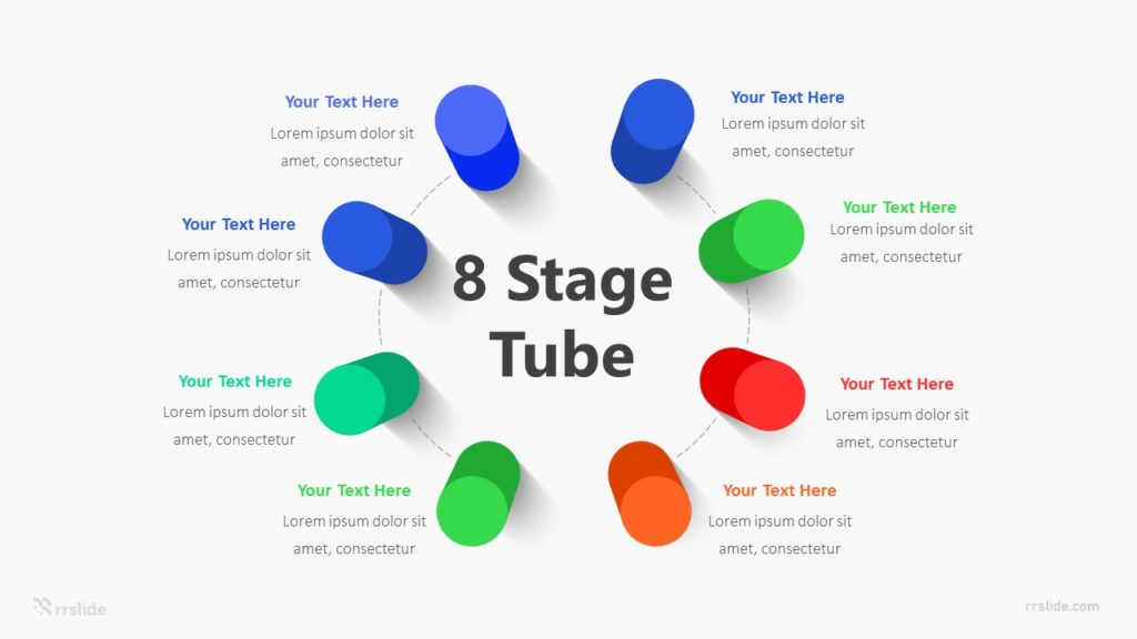 8 Stage Tube Infographic Template