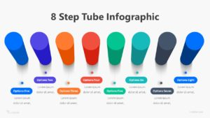 8 Step Tube Infographic Template