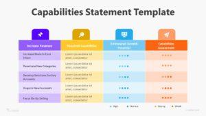 Capabilities Statement Infographic Template