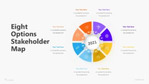 Eight Options Stakeholder Map Infographic Template