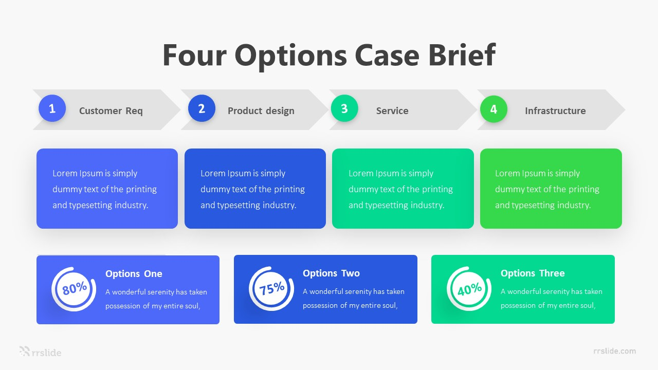 Four Options Case Brief Infographic Template