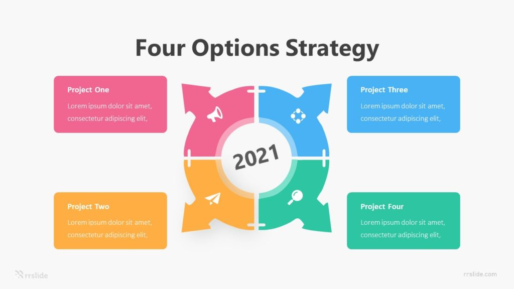 Four Options Strategy Infographic Template