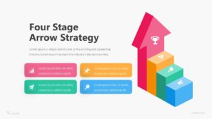 Four Stage Arrow Strategy Infographic Template