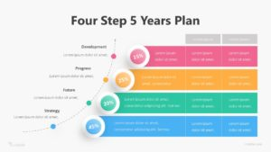 Four Step 5 Years Plan Infographic Template
