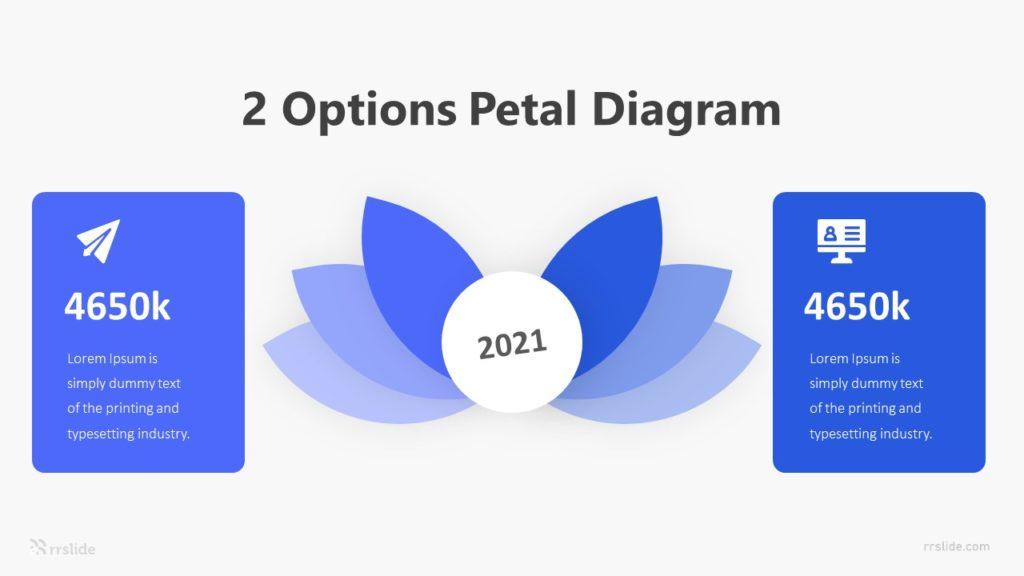 2 Options Petal Diagram Infographic Template