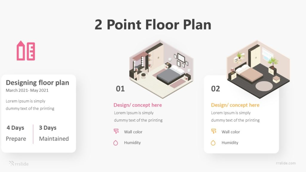 2 Point Floor Plan Infographic Template