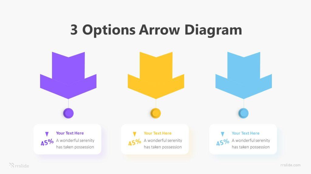 3 Options Arrow Diagram Infographic Template