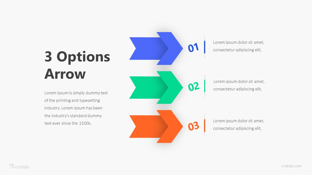 3 Options Arrow Infographic Template