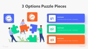 3 Options Puzzle Pieces Infographic Template