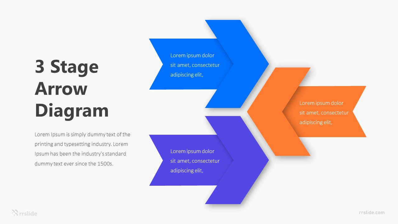 3 Stage Arrow Diagram Infographic Template