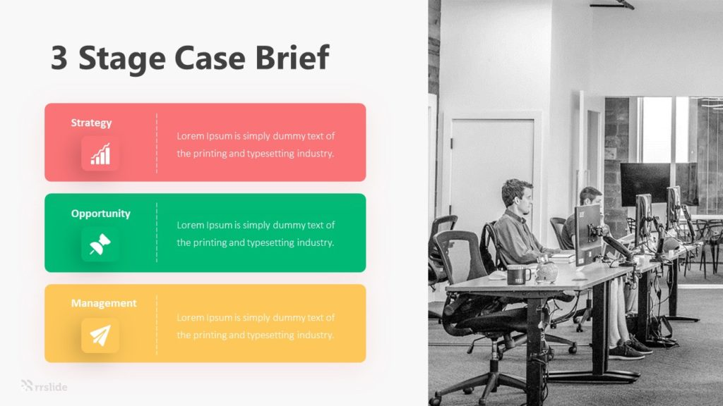 3 Stage Case Brief Infographic Template