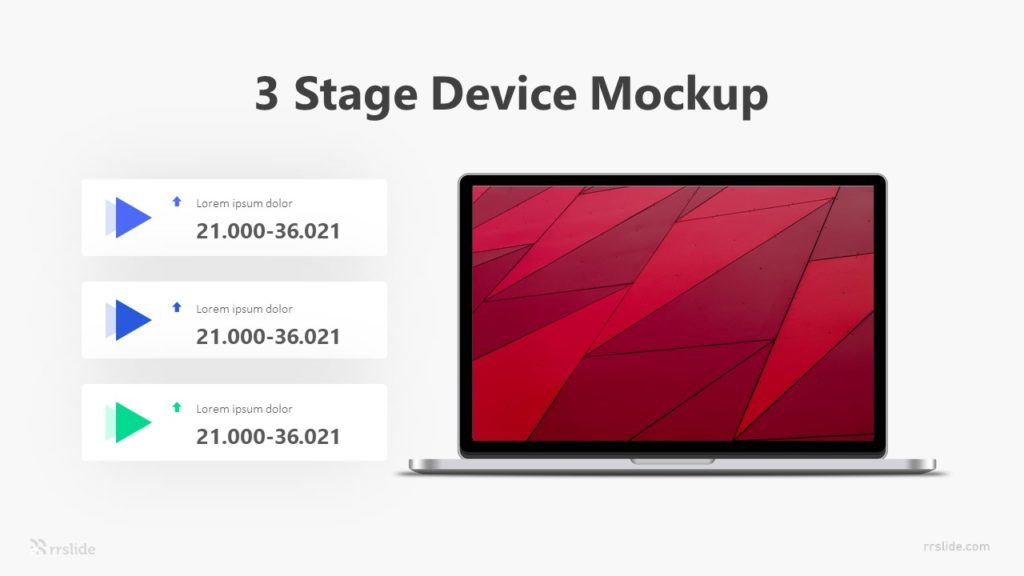 3 Stage Device Mockup Infographic Template