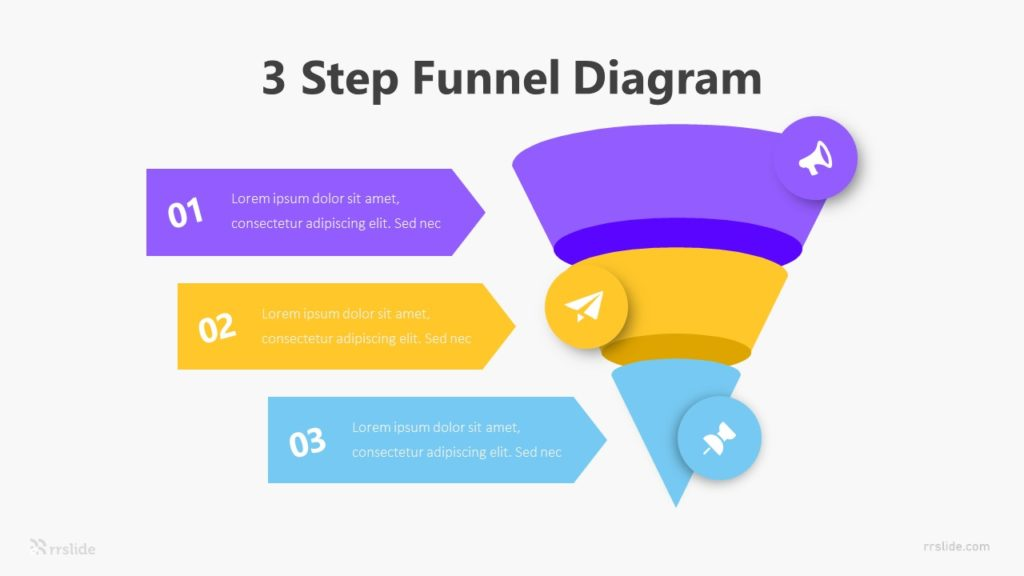 3 Step Funnel Diagram Infographic Template