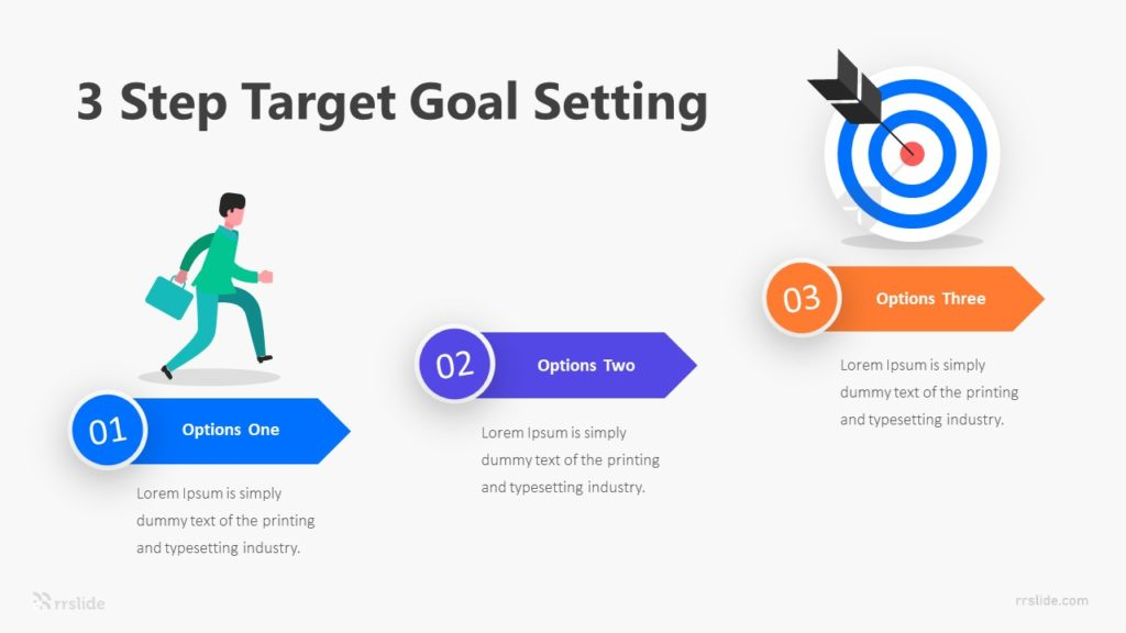 3 Step Target Goal Setting Infographic Template