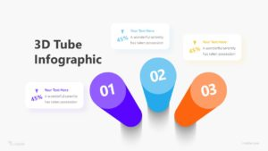 3D 3 Tube Infographic Template