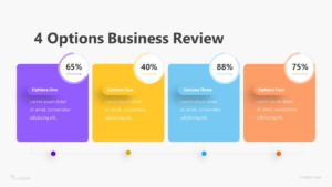 4 Options Business Review Infographic Template
