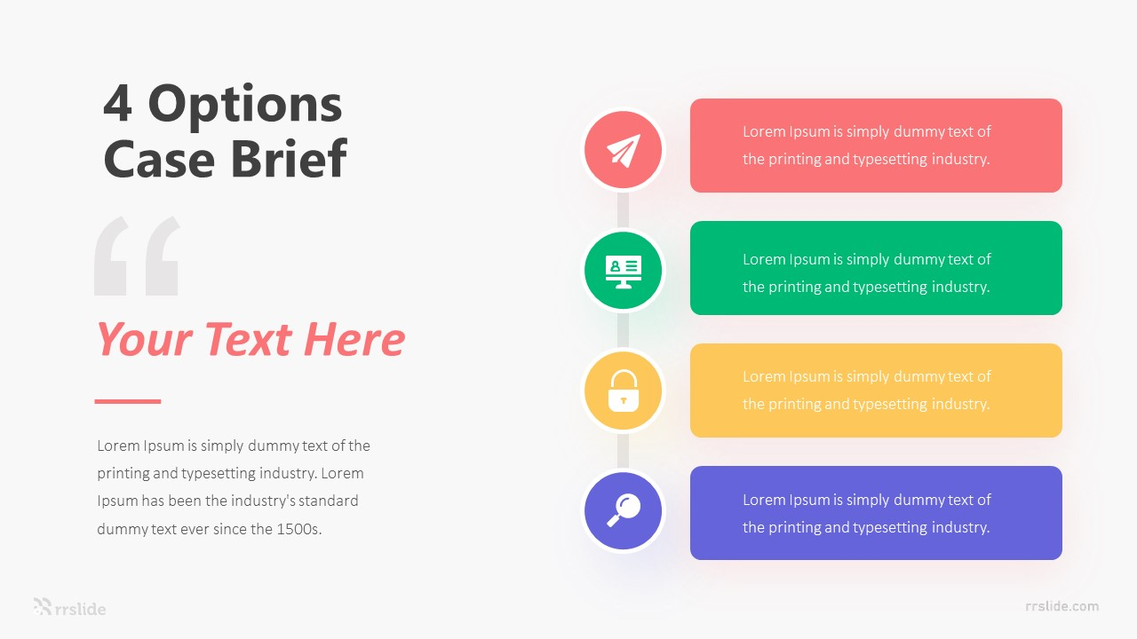 4 Options Case Brief Infographic Template