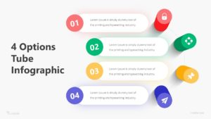 4 Options Tube Infographic Template